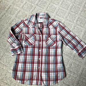 Adriano Goldschmied Western Plaid Shirt